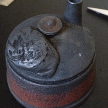 Antique Cast Iron Ink Well?? - Office