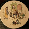 One of a set of 7 Faience plates - Sarreguemines - Story Plate by Froment Richard