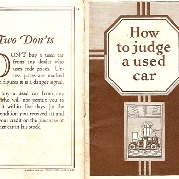Studebaker~How To Judge a Used Car from 1929 - Advertising