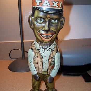 """Marx 1930's Tin Wind Up """"Amos"""" Toy"""