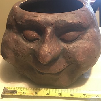 Need help with pottery face planter - Fine Art