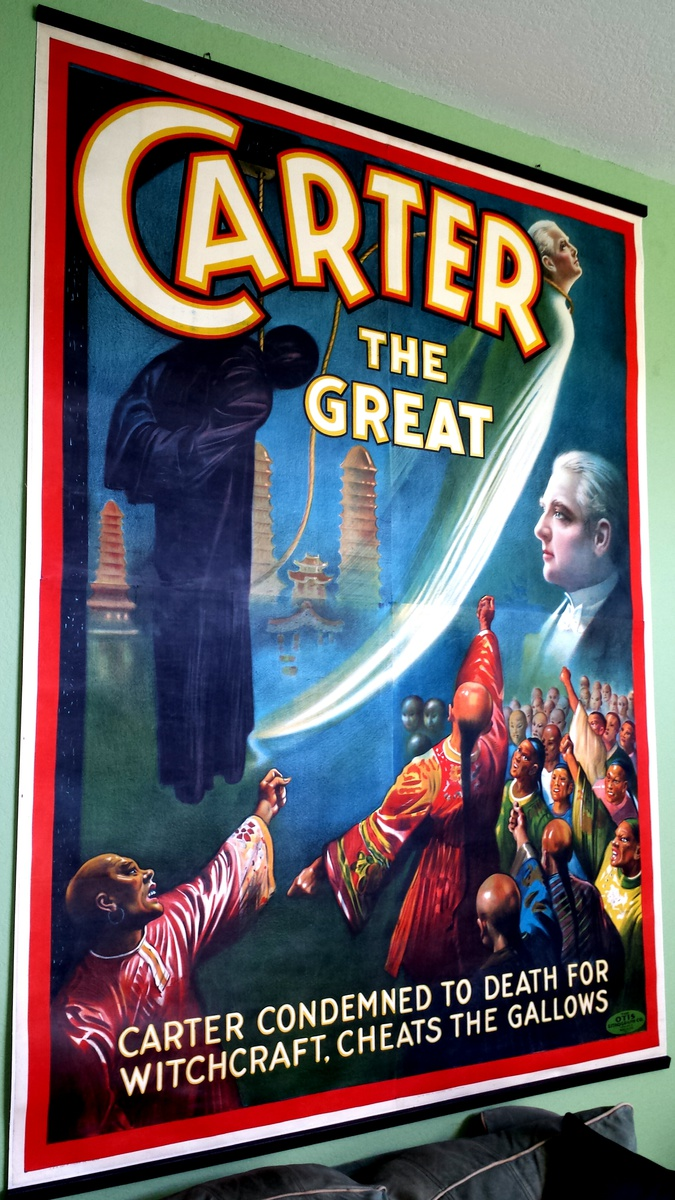 Carter The Great magician poster #9 1926 A Night In China