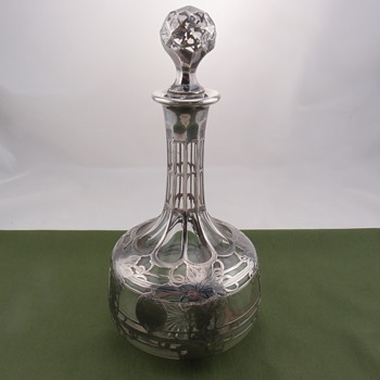 Alvin decanter with fine silver overlay - Bottles