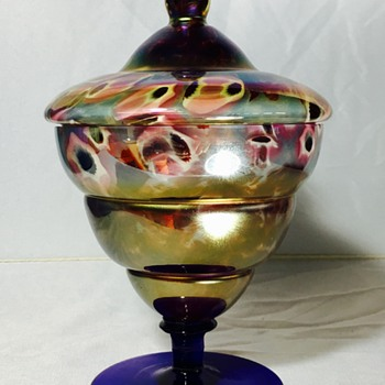 Kralik - Lidded dish - Art Glass