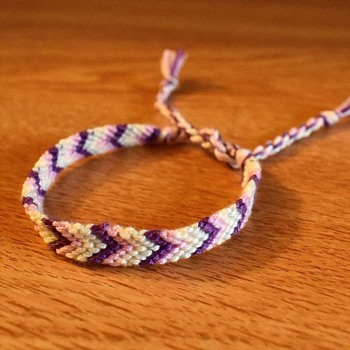 Violet Pastel Woven Bracelet - Costume Jewelry