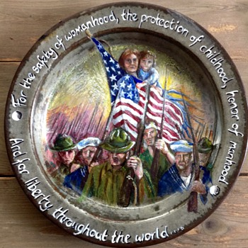 WW2 British Mess Tin, American Painting - Military and Wartime