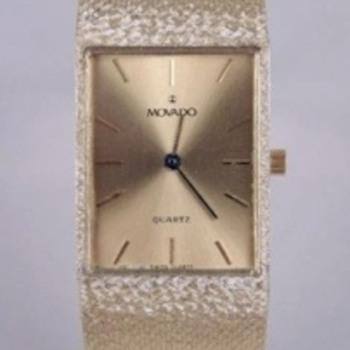 Movado 14K Yellow Gold Gentlemans Bracelet Watch - Wristwatches