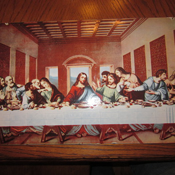 "Rare Porcelain Sign  ""The Last Supper"" - Signs"