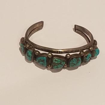 Vintage Turquoise & Silver Bracelet #2 Help Please - Fine Jewelry
