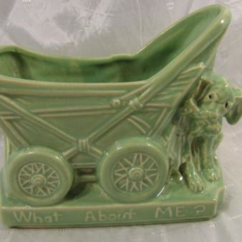 McCoy Dog With Stroller (What About Me?) Planter - Pottery