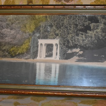 Very large Tinted Photograph of the Crystal Lake Reservoir - Photographs