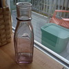Need help with identification of Dug bottle.Pink cathedral style 2 mold?