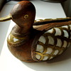 antique 18th century duck wooden