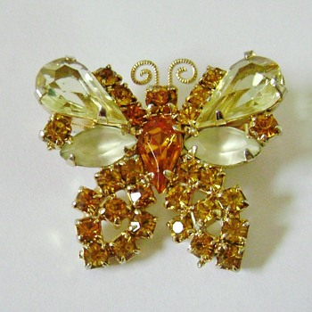 Juliana D and E Butterfly Brooch - Animals