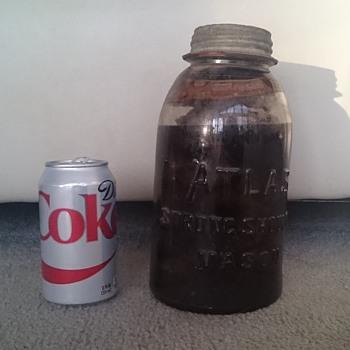 Leaning Dropped A atlas jar