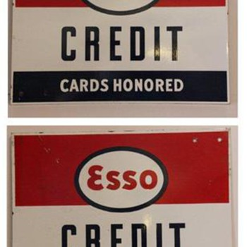 esso credit card sign - Petroliana