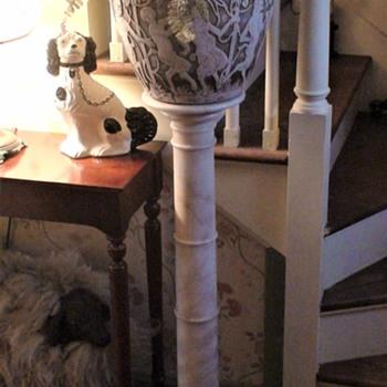 Victorian White Alabaster Column - Victorian Era