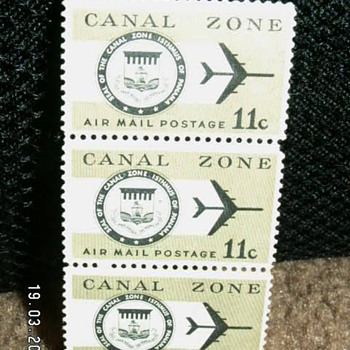 1971 Canal Zone Air Mail Postage 11c Stamps
