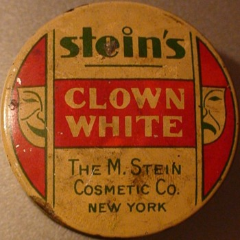 Art Deco Stein's Clown White Theatre Makeup - Advertising