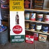 Rare 1950's Coca-Cola School Zone Speed Safety Sign