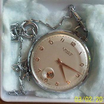 Langendorf Watch Co Lanco Pocket Watch 15 Jewels - Pocket Watches