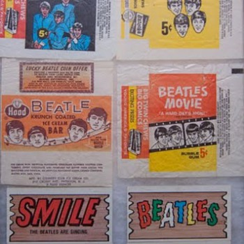 Beatles wrappers and Plak Cards-1964 - Music Memorabilia