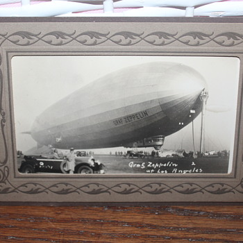 A Late-1920s Graf Zeppelin Unused and Unposted Photographic Postcard - Photographs