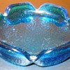 Blue/Turquoise Glass Ashtray
