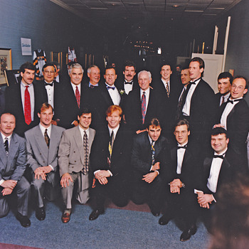 Boston Bruins retirement  dinner for Reggie Lemelin 1995 - Hockey