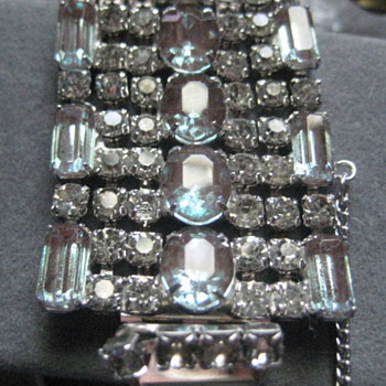 Rhinestone Cuff - 7 rows - Costume Jewelry