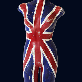 Unique hand painted 1960's Los Angeles UNION JACK Mannequin - Advertising