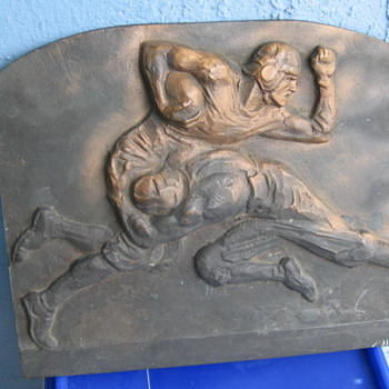 1920's 30's Bronze Football pattern mold - Football
