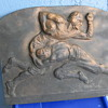 1920's 30's Bronze Football pattern mold