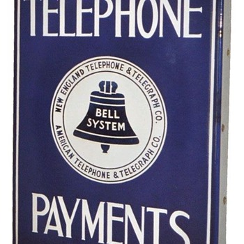 Telephone Payments Sign White Logo - Signs