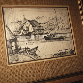"""Sketch drawing by Joseph Purcell""""Canadian Artist,Circa 1950-60 - Fine Art"""