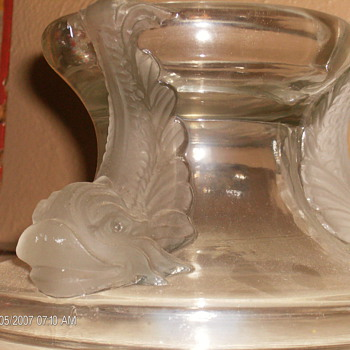 Glass Base for ??? Maybe PunchBowl - Art Glass