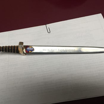 HHQ ll Field Force Vietnam Sword Letter Opener made in Japan - Military and Wartime