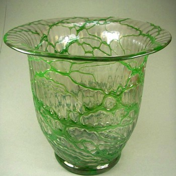 Loetz Art Deco Vase c. 1930 - Art Glass