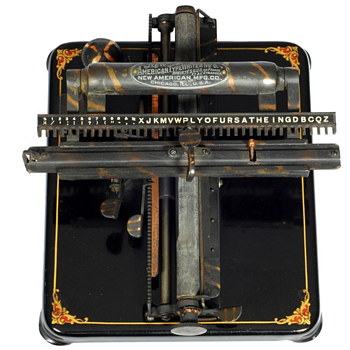 New American 5 typewriter  (also International 5 typewriter) - 1906
