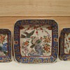 Chinese Decrotive Plates With Birds and Colorful Pattern Unidentified