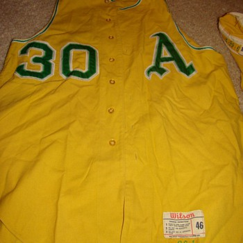 1966 Kansas City A's #30 gold vest jersey & pants... feedback?