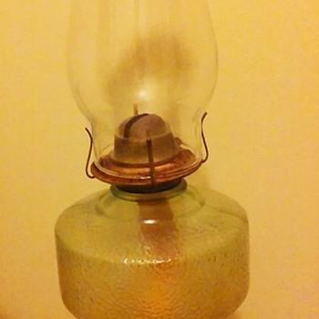 Green oil lamp