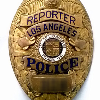 L.A. Police Reporter Badge - Medals Pins and Badges