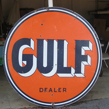 GULF OIL SIGN - Signs