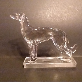 New Martinsville Wolfhound  - Art Glass