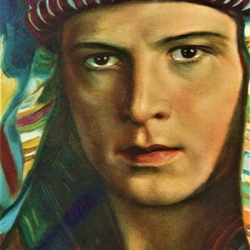 "Rudolph Valentino "" The Sheik"" 1921 On The Cover Of Motion Picture Magazine February 1922"