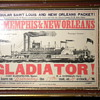 New Orleans Packet steamship departure card