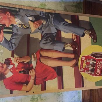 Coca Cola cardboard sign  - Coca-Cola