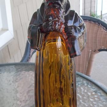 Amber Monk Decanter - Bottles