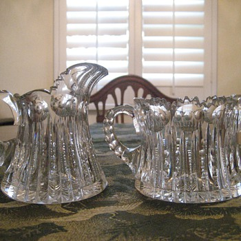 American Brilliant Sugar and Creamer - Glassware